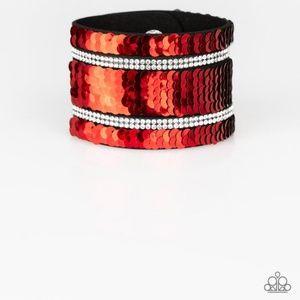 Mermaid Service Reversible Red/Silver Bracelet